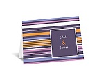 Chic Pinstripe - Raisin - Note Card and Envelope