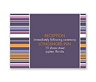 Chic Pinstripe - Raisin - Reception Card