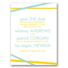 Diamond Delight - Aqua - Save the Date Card