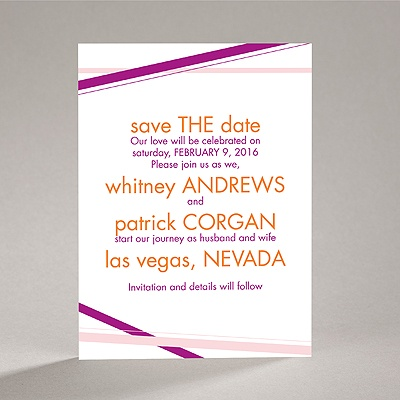 Diamond Delight - Amethyst - Save the Date Card