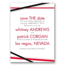 Diamond Delight - Black - Save the Date Card