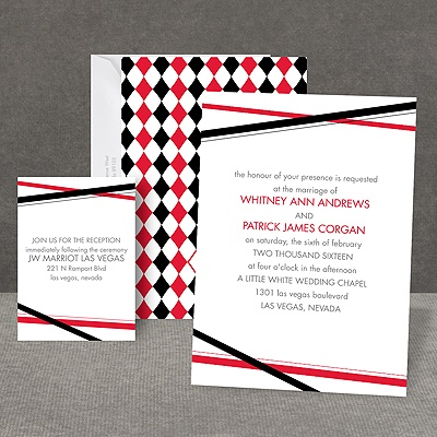 Diamond Delight - Black - Invitation
