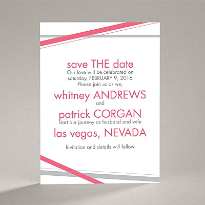 Diamond Delight - Posie Pink - Save the Date Card