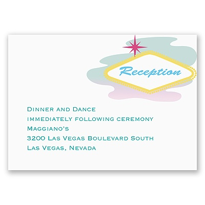Fabulous Las Vegas - Reception Card