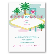 Fabulous Las Vegas - Save the Date Card