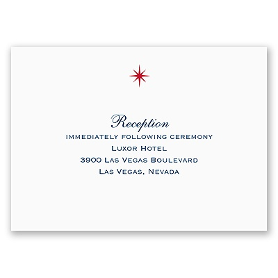 Loving Las Vegas - Reception Card