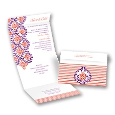 Damask Stripes - Seal and Send Invitation