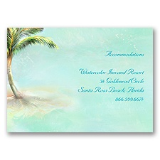 Palm Tree - Accommodations Card