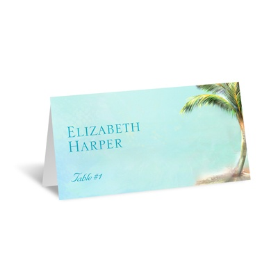 Palm Tree - Escort Card