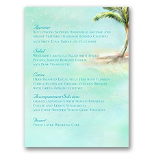 Palm Tree - Menu Card