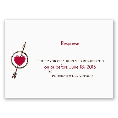 The Love Games - Response Card and Envelope