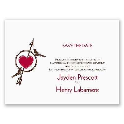 The Love Games - Save the Date Card