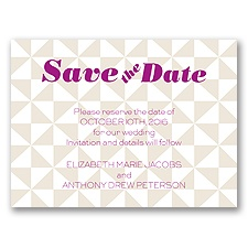 Pinwheel Pattern - Champagne - Save the Date Card