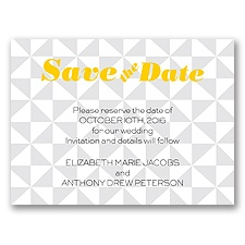 Pinwheel Pattern - Sterling - Save the Date Card