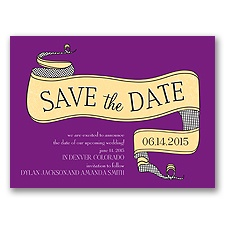Vintage Banner - Grapevine - Save the Date Card