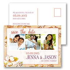 Magnolia Blossoms - Tango - Save the Date Postcard
