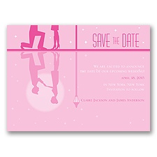 Reflection - Fuchsia - Save the Date Card