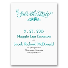 Love in Bloom - Save the Date Card