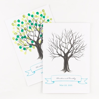 Thumbprint Tree - Guest Signature Poster