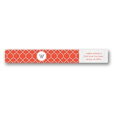 Wooden Lattice - Address Label