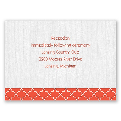 Wooden Lattice - Reception Card