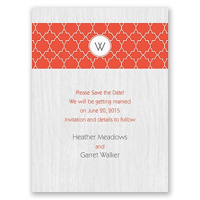 Wooden Lattice - Save the Date Card