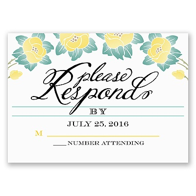 Blooming Beauty - Citrus - Response Card and Envelope