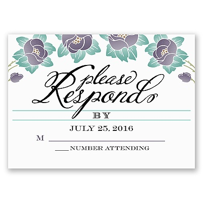 Blooming Beauty - Raisin - Response Card and Envelope