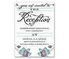 Blooming Beauty - Raisin - Reception Card