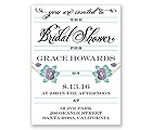 Blooming Beauty - Raisin - Bridal Shower Invitation