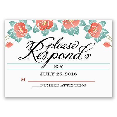 Blooming Beauty - Tango - Response Card and Envelope
