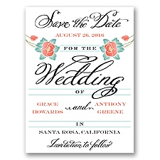 Blooming Beauty - Tango - Save the Date Card