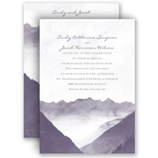 Mountain Mist - Invitation