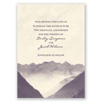 Mountain Mist - Ecru - Save the Date Card