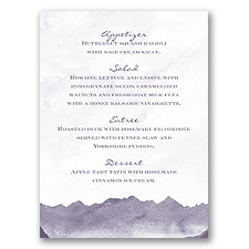 Mountain Mist - Menu Card