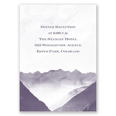 Mountain Mist - Reception Card