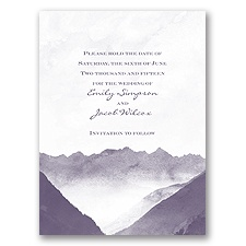 Mountain Mist - Save the Date Card