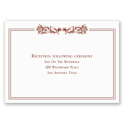 Sienna Embrace - Reception Card