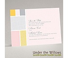 Patchwork Gingham - Cotton Candy - Save the Date Card