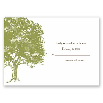Love Naturally - Response Card and Envelope