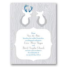 Buck & Doe - Save the Date Card