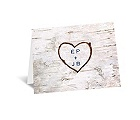 Carved in Love - Note Card and Envelope