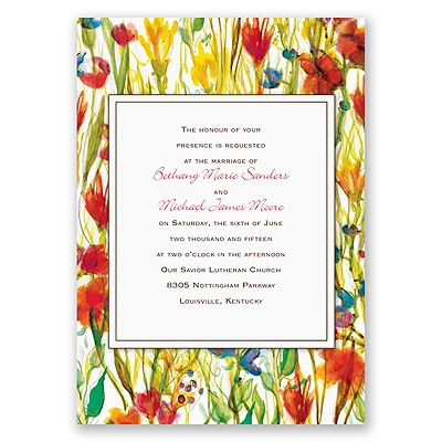 Sweet Meadow - Invitation