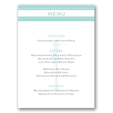 Majestic Love - Menu Card