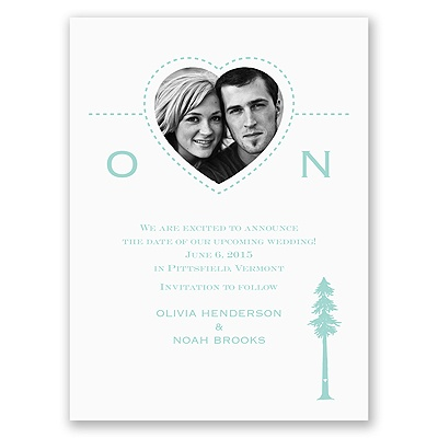 Majestic Love - Save the Date Card