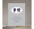 Vintage Silhouettes - Save the Date Card