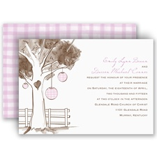 Gingham Lanterns - Invitation