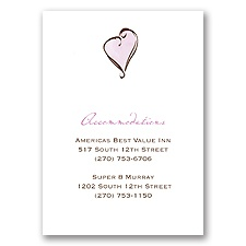 Gingham Lanterns - Accommodations Card