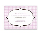 Gingham Lanterns - Response Card and Envelope