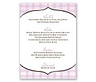 Gingham Lanterns - Menu Cards